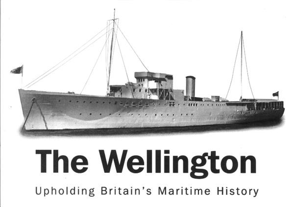 Image of HQS Wellington. Caption: The Wellington, Upholding Britain's Maritime History