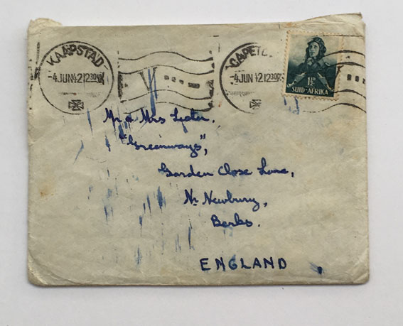 Photo of a hand-written envelop