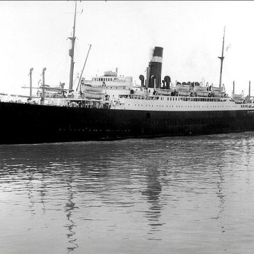 B&W image of the SS Athenia